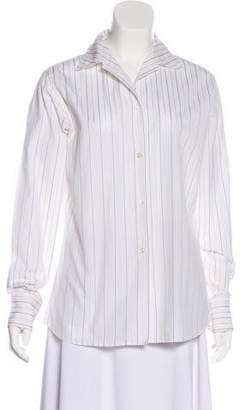 Loro Piana Striped Long Sleeve Blouse