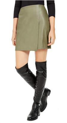 Bar III Faux-Leather Skirt