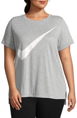 Nike Womens Crew Neck Short Sleeve T-Shirt Plus