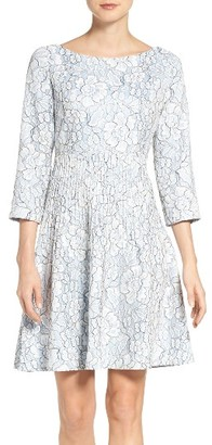 Petite Women's Eliza J Embroidered Floral Fit & Flare Dress $178 thestylecure.com