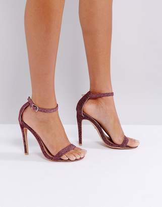 Barely There Lost Ink Pink Sparkle Sandals