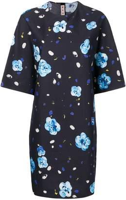 Marni floral printed mini dress