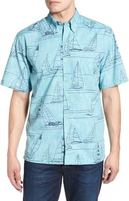 Reyn Spooner Newport 2 Honolulu Classic Fit Print Sport Shirt