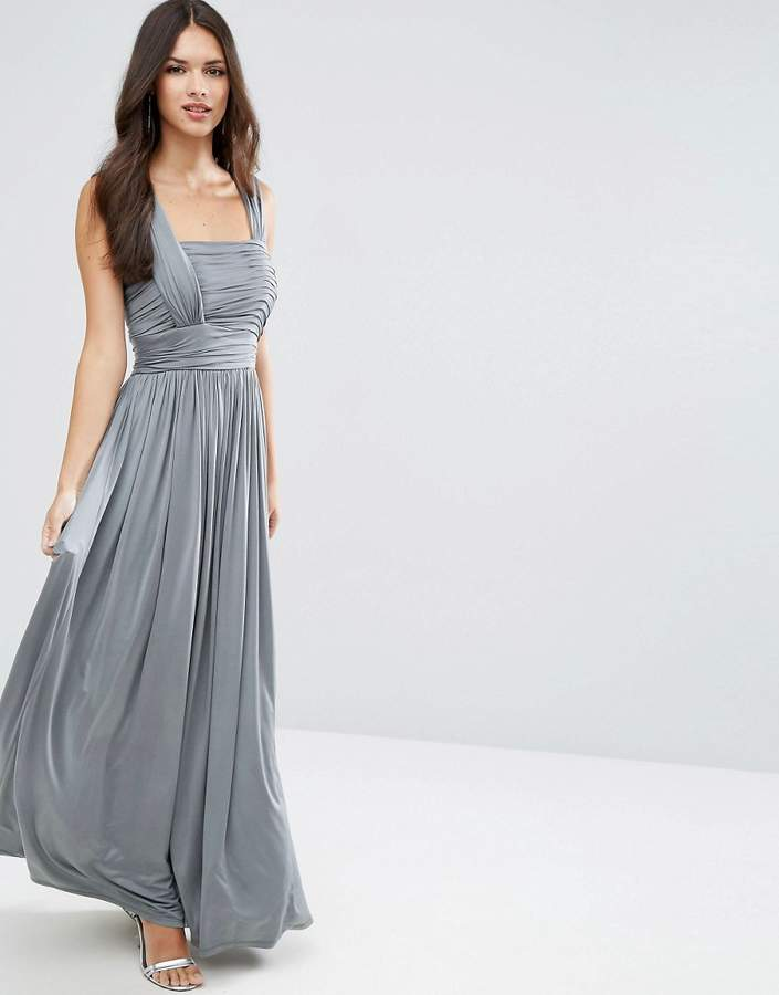 AsosASOS WEDDING Slinky Ruched Maxi Dress