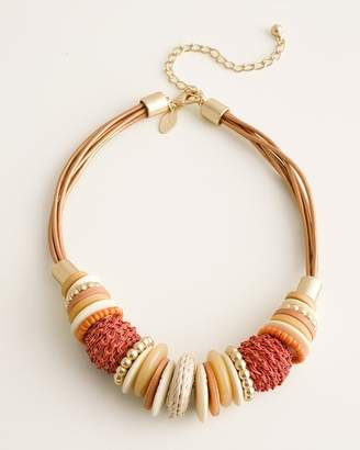 Chico's Chicos Short Beaded Warm-Tone Necklace