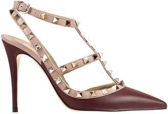 Valentino Pumps Rockstud Bicolor Leather Heel 10 Cm With Studs