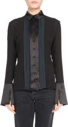 Olivier Theyskens Cropped Cotton Jeans and Matching Items