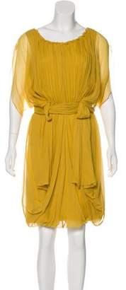 Alberta Ferretti Silk Short Sleeve Dress