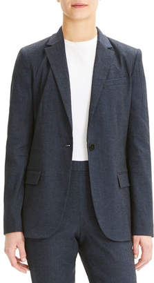 Theory Staple One-Button Eco Sharkskin Blazer