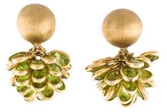 Carla Amorim 14K Peridot Drop Earrings
