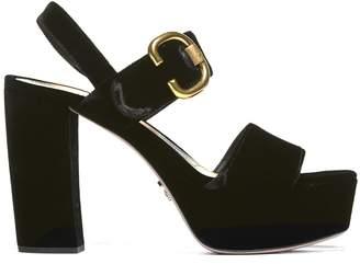 Prada Buckle Platform Sandals