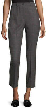 Michael Kors Samantha Cropped Plaid Pants