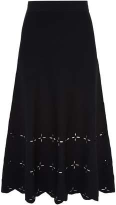 Sandro Cut-Out Midi Skirt