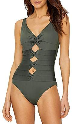 Carmen Marc Valvo Women's One Piece Swimsuit with Twist Detail and Adjustable Straps