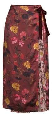 Mother of Pearl Floral Midi Skirt
