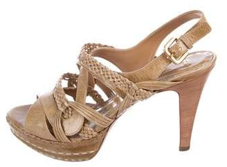 Prada Braided Multistrap Sandals