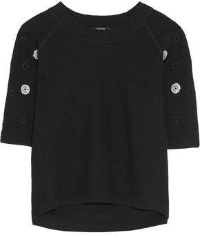 Raoul Embellished Cotton-Blend Sweater