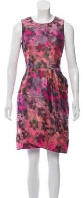 Lela Rose Brocade Sleeveless Dress
