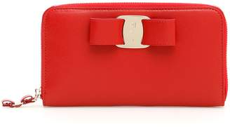 Salvatore Ferragamo Vara Zip-around Wallet