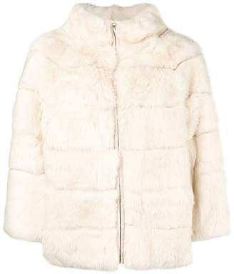 Blugirl high neck fur coat