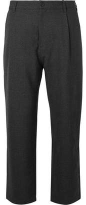 Studio Nicholson Bruno Pleated Mélange Wool Trousers