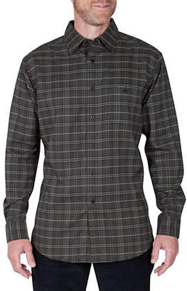 Haggar Regular-Fit Plaid Long-Sleeve Shirt