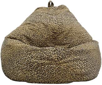 Gold Medal Large Teardrop Safari Microfiber Faux-Suede Corduroy Bean Bag Chair