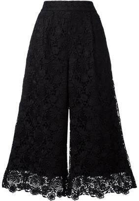 Diane von Furstenberg cropped lace trousers