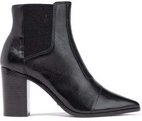 Schutz Paneled Leather Ankle Boots