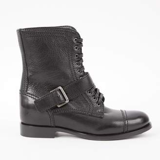 Prada Black Leather Ankle boots