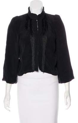 Winter Kate Fringe-Accented Cropped Jacket