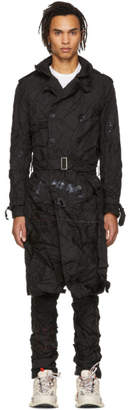 Kanghyuk Black Cropped Readymade Airbag Trench Coat