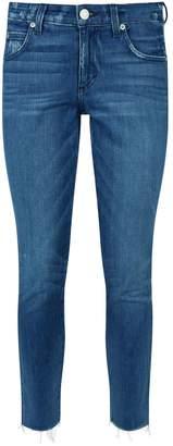 Amo Denim Stix Crop Raw Hem Jeans