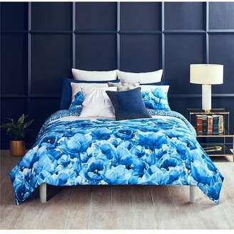 Ted Baker Blue Beauty Full/Queen Comforter & Sham Set- Blue/White