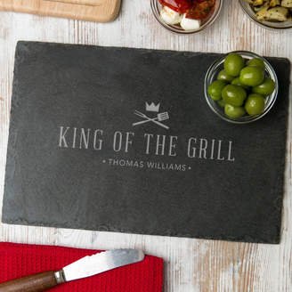 Dust and Things 'King Of The Grill' Slate Serving Board Personalised