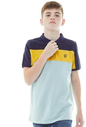 Lyle & Scott Junior Boys Cut And Sew Polo Powder Blue