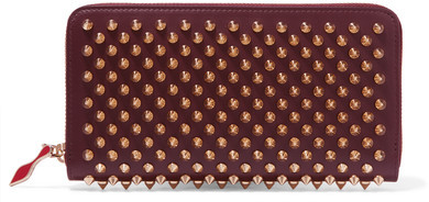Christian Louboutin Christian Louboutin - Panettone Spiked Leather Wallet - Burgundy