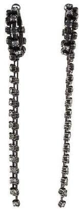 Lanvin Crystal Fringe Chandelier Earrings