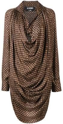 Jacquemus cowl neck shirt dress