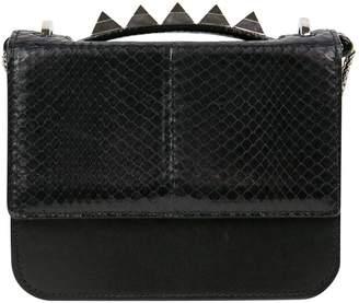 Salar Black Python Handbag