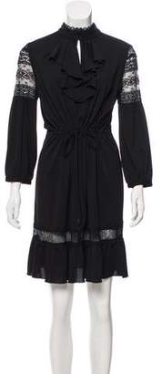 Anna Sui Long Sleeve Knee-Length Dress