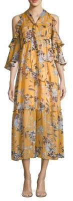 Shoshanna Elena Floral Silk Dress