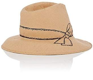 Jennifer Ouellette Women's Straw Fedora - Tan