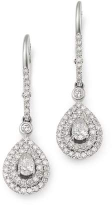 Bloomingdale's Pear-Shaped Diamond Drop Earrings in 14K White Gold, 1.0 ct. t.w. - 100% Exclusive