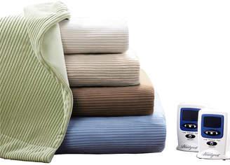 Simmons Ribbed Microfleece Heated Blanket