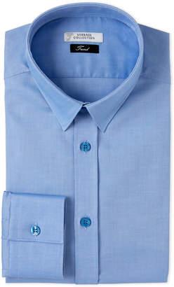 Versace Solid Blue Brushed Dress Shirt