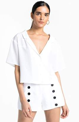 A.L.C. Arto Crop Button Down Shirt