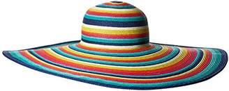 San Diego Hat Company Women's 8-inch Brim Floppy Stripe Sun Hat