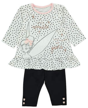 Bell George Disney Tinkerbell Dotty Top and Leggings Outfit