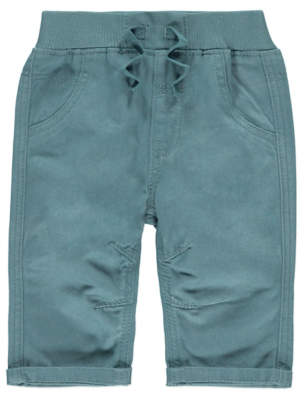 George Turquoise Woven Trousers
